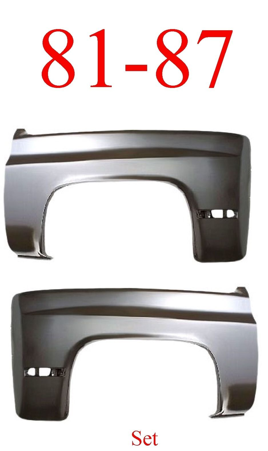 81-87 Chevy Front Fender Set